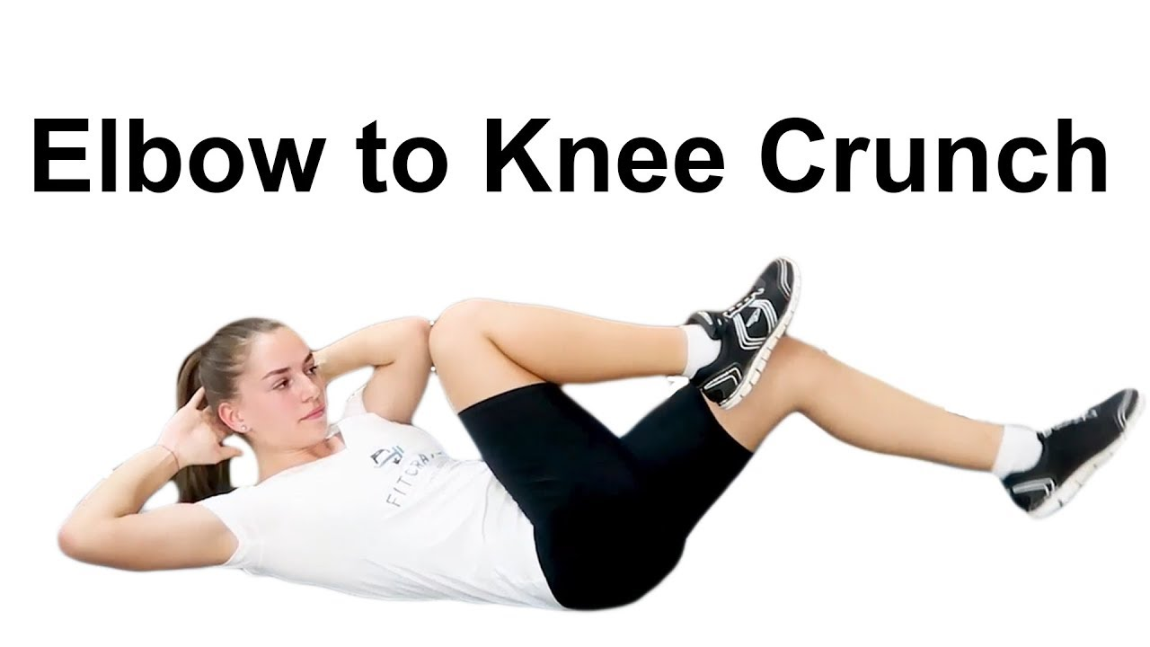 CRUNCHES KNEES TO ELBOWS fitness and workout