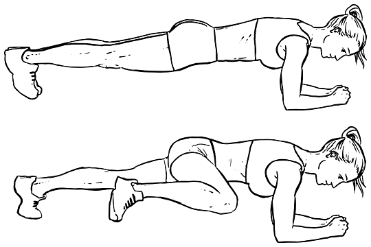 PLANKS KNEE TO ELBOW how to workout